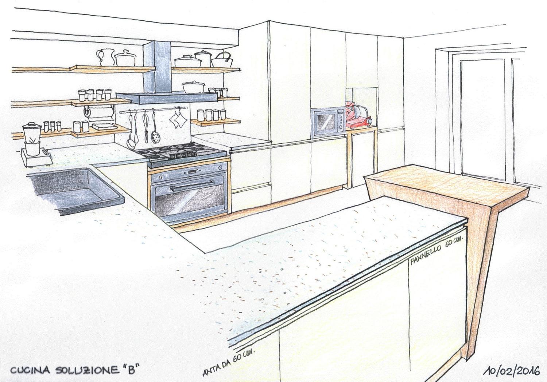 Cucina su disegno – Architetto Roberta Pradella
