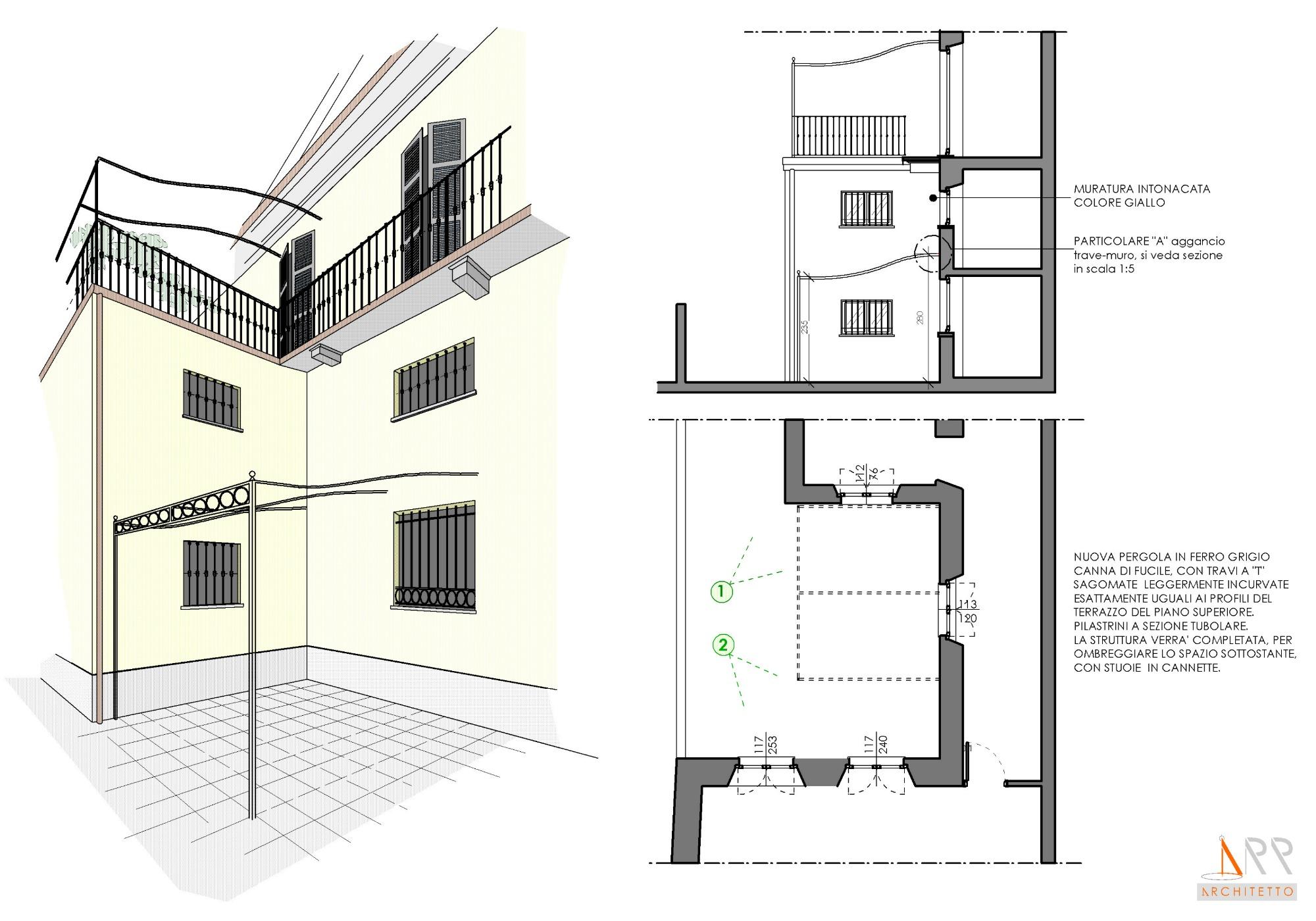 Modifiche esterne al prospetto sul giardino privato - Casa con giardino milano ...