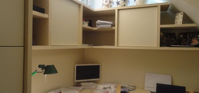 Ufficio in una casa con soffitto a volta